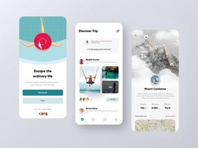 Travel App ui app flat typography illustration branding ui ux designer figmadesign design