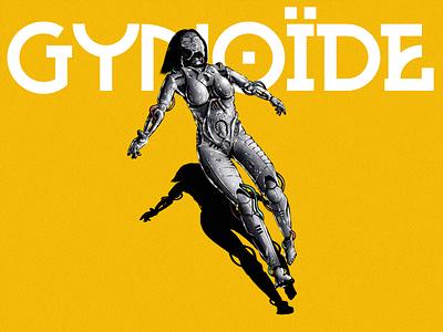 GYNOÏDE 3 yellow details droids droid cyborg robot robots robotics noise texture noise flat procreate minimal illustration drawings drawing digital painting digital illustration digital art design