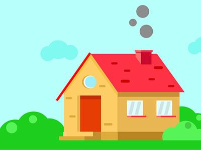 Home isometric Design in Illustrator vector logo illustration