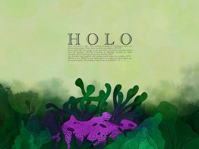 HOLO is You dark wallpaper illustration plants graphic design