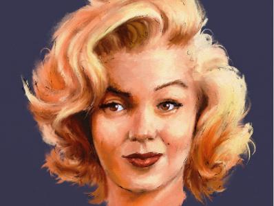 Marilyn portrait pintura digital illustration