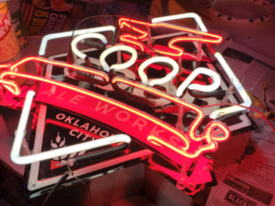 Neon fabrication custom sign coop ale works neon