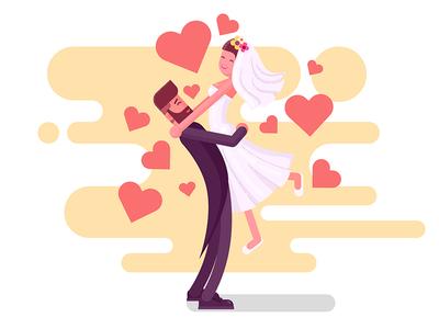 Wedding Couple  illsutration marriage bride and groom couple wedding couple