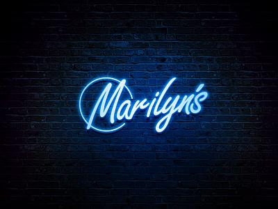 Marilyn's Nightclub Branding vector illustration neon light neon logo neon sign logo mockup brand identity design brand design nightlife night club logodesigner logotype nightclub logo nightclub brand strategy brandidentity branding logodesign
