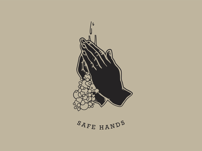 Safe Hands for Talenthouse typography design vector logodesigner praying wash hands coronavirus covid19 safehands illustration talenthouse