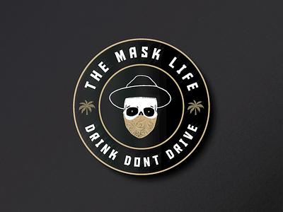 The Mask Life - Badge Design sticker design sticker apparel distressedunrest badgedesign badge logo vector logo branding logodesigner illustration