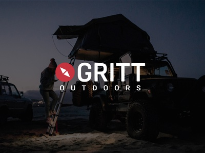 GRITT Outdoors logodesigner typography brand strategy logoai camping logo camping adventurer logo adventure brand identity design brand design outdoor badge outdoor logo outdoors branding