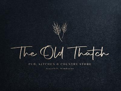 The Old Thatch restaurant branding luxury design luxury brand luxury logo logodesign logo rebrand pub logo restaurant logo restaurant brand strategy brand identity design brand design logodesigner branding