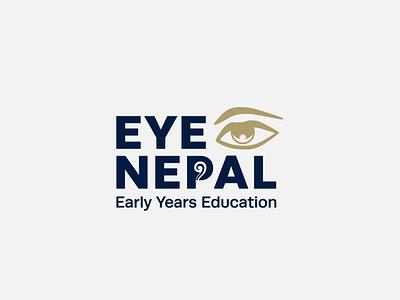 EYE Nepal nepal logo brand design brand logo designer england uk brand strategy logodesign brand identity design charity design charity branding branding children charity eye logo eye charity logo logo nepal charity graphic design