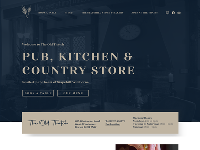 The Old Thach - Web Design Concept gastro gastro pub pub website restaurant website pub pub branding restaurant luxury logodesign logo brand identity design brand design ux ui ux brand strategy logodesigner web branding graphic design ui