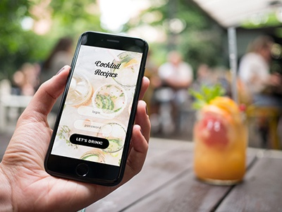 iPhone 7 at coffee garden - 12 photo mockups