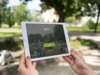 iPad Pro at the park - 8 photo mockups