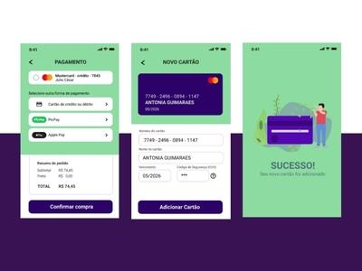UI Estudo 02 - checkout cartão de crédito