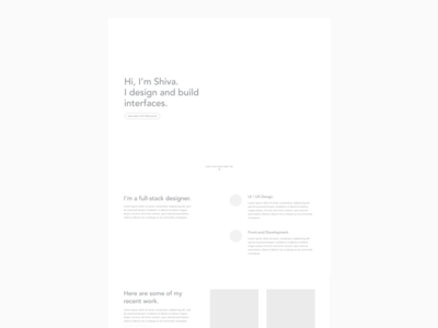 Personal website - wireframe