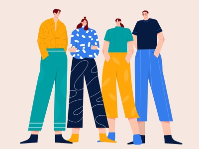 Team Illustration character animation characters group illustration group character woman startup team chat illustration conversation meeting illustration flat ilustration business b2b illustration