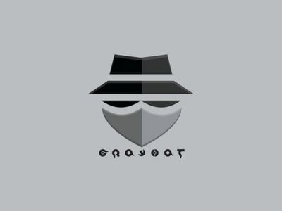 Grayhat Logo illustrator font vektor simple design ai logo