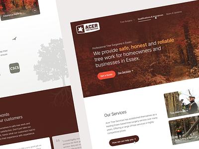 Acer Tree Services - Branding & Website tree logo branding surgeon tree web design ui web