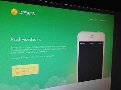 Dreams dreams ios app design ui web