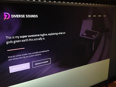 Diverse [Still a WIP] diverse sounds diverse web ui purple pink vinyl