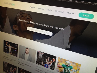 Sporting Moments sport moments minimal web ui