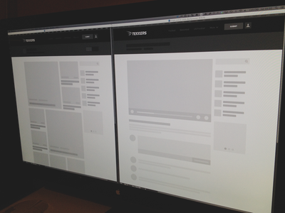 Wireframing tekkers web video related comments ui wireframe