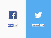 Twitter & Facebook Like Buttons