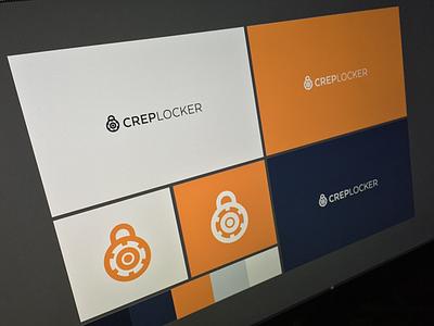 Crep Locker - Branding crep locker branding presentation blue orange white palette