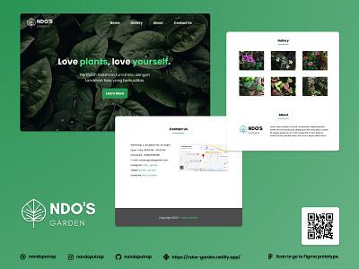 Ndo's Garden Landing Page landing page plant shop garden nursery plants responsive website webdesign javascript css html
