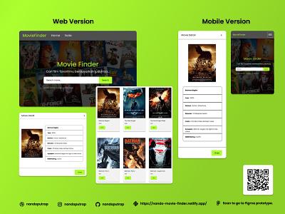Nando Movie Finder web design movie app movie bootstrap api responsive website javascript css html