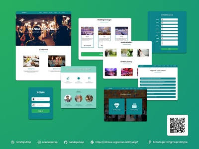 Allnice Organizer event organizer birthday wedding organizer bootstrap responsive website javascript html css