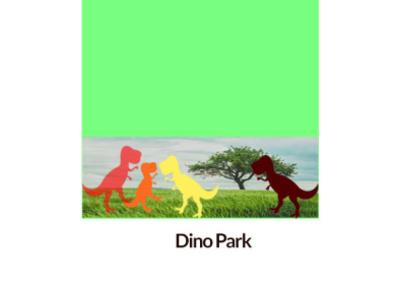 Dino Park design logo illustrator