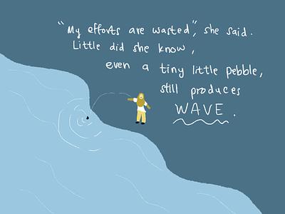 Pebble blue illustration