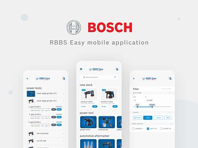 Robert Bosch - RBBS Easy app UI design app ui app design e-comerce e-shop e-commerce shop e-commerce design e-commerce app ecommerce e-commerce development design ux ui app bosch