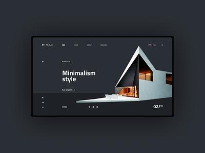 Minimalism - Architecture Landing Page web ux web ui web ui design architecture website real estate website realestate architectural architecture design architecture ux design ux ui design ui  ux ui web website web design minimalistic minimalism