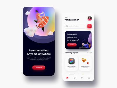 Online Learning App UI Exploration mobile app design app designer app app design ux design ui design ux ui mobile app online course