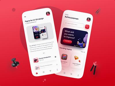 Online course mobile app UI exploration modern app design ui design app designer design app ui ui  ux ux ui app design app design course online learning app online course