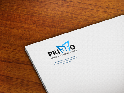 PRIMO book cover flat icon minimal design branding logo