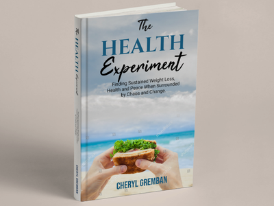 BOOK : hEALTH EXPERIMENT notebook design illustration icon flat classic minimal design branding logo book cover