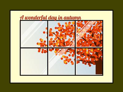 Wonderful day in Autumn autumn illustration figma weekly warm-up