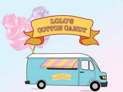 Cotton Candy illustrator food truck weekly warm-up illustration design cotton candy