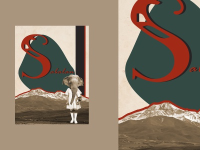 "Poster ""Sabalan"" mountains graphicdesign adobe illustrator typography adobe photoshop poster design"