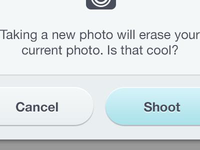Shoot first shoot camera buttons button modal ios interface