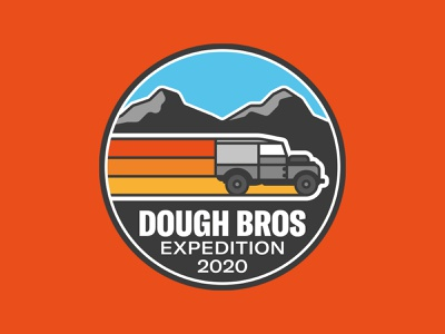 OFF ROAD EXPEDITION vector design logo land rover dough bros brothers baker colorado mountain outdoor patch badge car classic 4x4 defender landrover