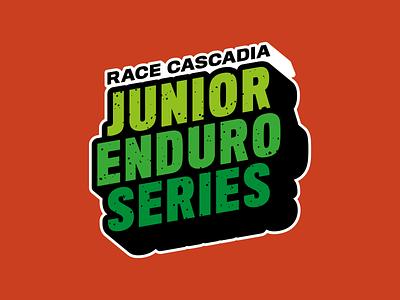 PNW JUNIOR ENDURO SERIES bike mountain mtb mountainbike pacific northwest typogaphy logo race enduro