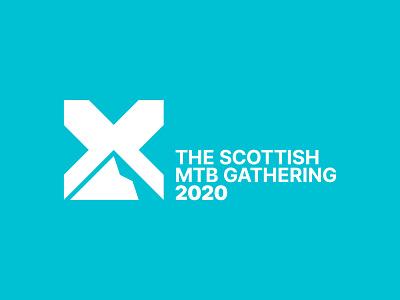 The Scottish MTB Gathering mountainbike event minimal scotland bike mtb mountain brand logo
