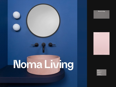 Noma Living 36daysoftype font colorplan brand minimal design interior wordmark logo typography type