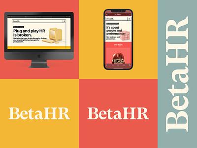 BetaHR startups typography identity design 80s web ui webdesign london hr branding brand logotype workmark logo
