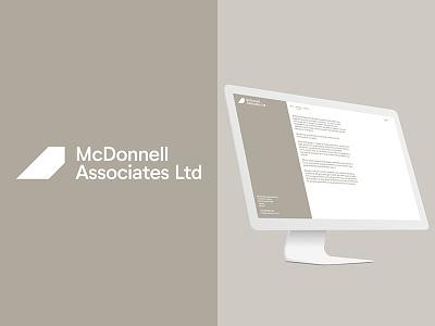 MCD Branding mono light identity architect logo