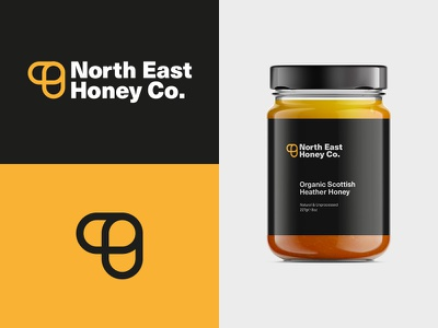 North East Honey Co. packaging jar logo bee