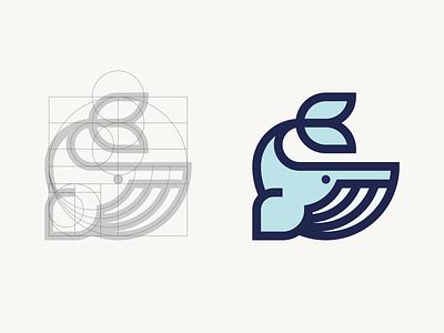 Humpback Whale grid ocean sea icon
